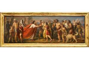 А. Т. Марков. Иосиф в Египте принимает отца и братьев. 1840-е. Холст, масло